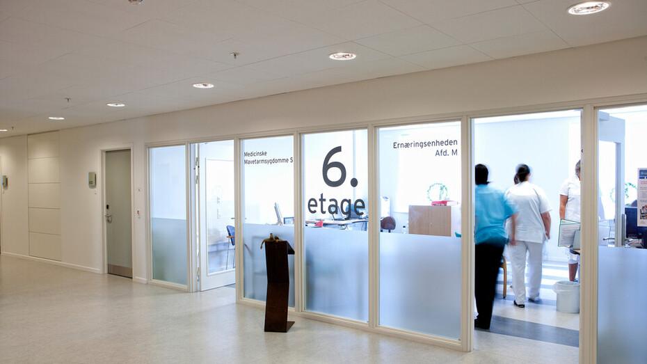 Odense Hospital Patient Hotel, Sonar X 600x600x22, Tropic A24 1200x600x15
