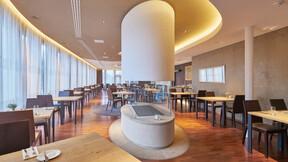 Maximus Hotel Restaurant,Czech Republic,Brno,100m²,Ing. Arch. Alena Zemanová,Arch.Design s.r.o.,Bartosz Makowski,ROCKFON Mono Acoustic,mocha